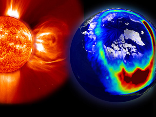 SOLAR STORMS can cause colorful auroras, often seen in higher ...