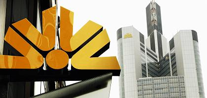 Commerzbank-Logo in Frankfurt