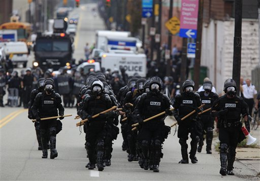 G20 Summit Protests: Pittsburgh Police in Riot Gear