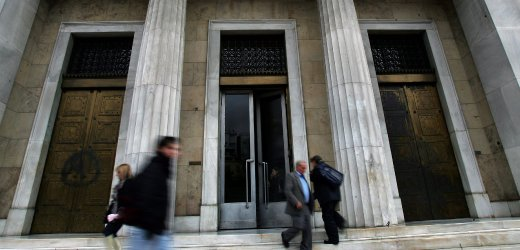 Greek central bank in Athens