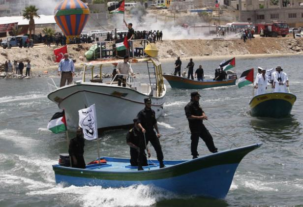 hamas-naval-police-prepare-for-the-flotilla-in-gaza-yesterday