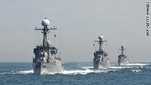 south-korean-patrol-vessels-stage-an-anti-submarine-exercise