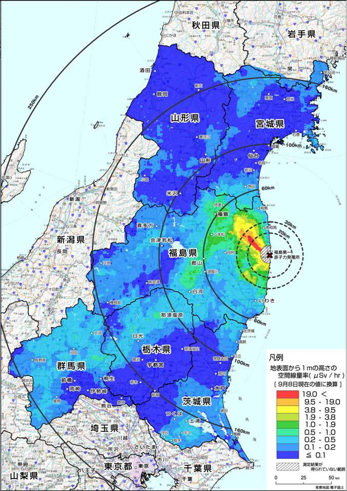 Ministry Of Education Radiation Map Gunma Prefecture Looks Worse - Japan radiation map 2016