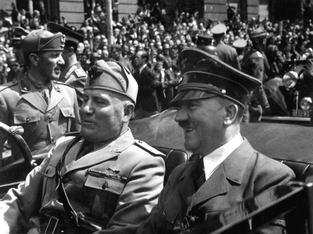 Hitler and Mussolini in Munich, Germany