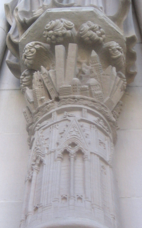 ... Pillars On St. John The Divine Cathedral Depict Apocalyptic New York