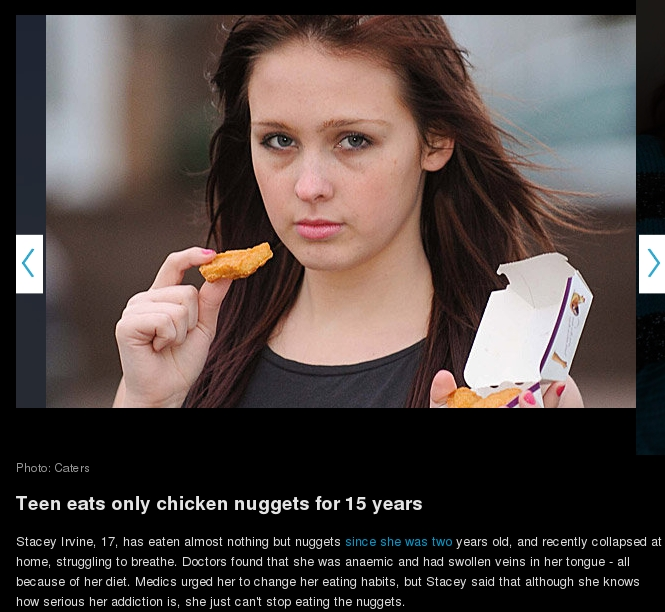 Teen Eats Only Chicken Nuggets For 15 Years