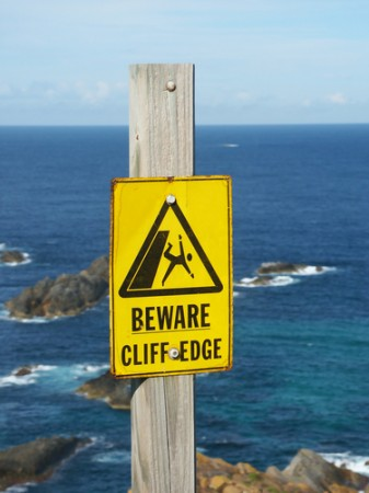 Beware cliff edge