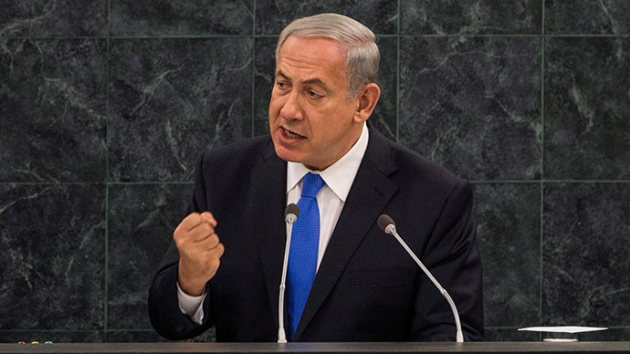 Israeli Prime Minister Benjamin Netanyahu speaks at the 68th United Nations General Assembly on October 1, 2013 in New York City