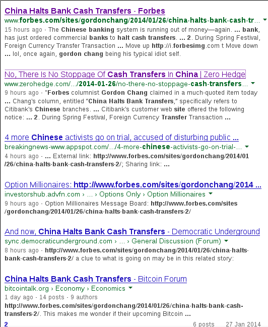 China Halts Bank Cash Transfers - Forbes