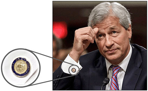 Jamie Dimon cufflinks - The seal reads Seal of the President of the United States and includes the arrow-carrying eagle