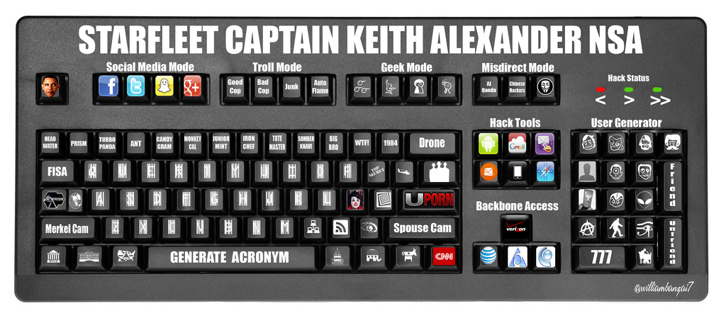 Keith Alexander Custom Keyboard