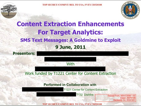 NSA collects millions of text messages daily in 'untargeted' global sweep