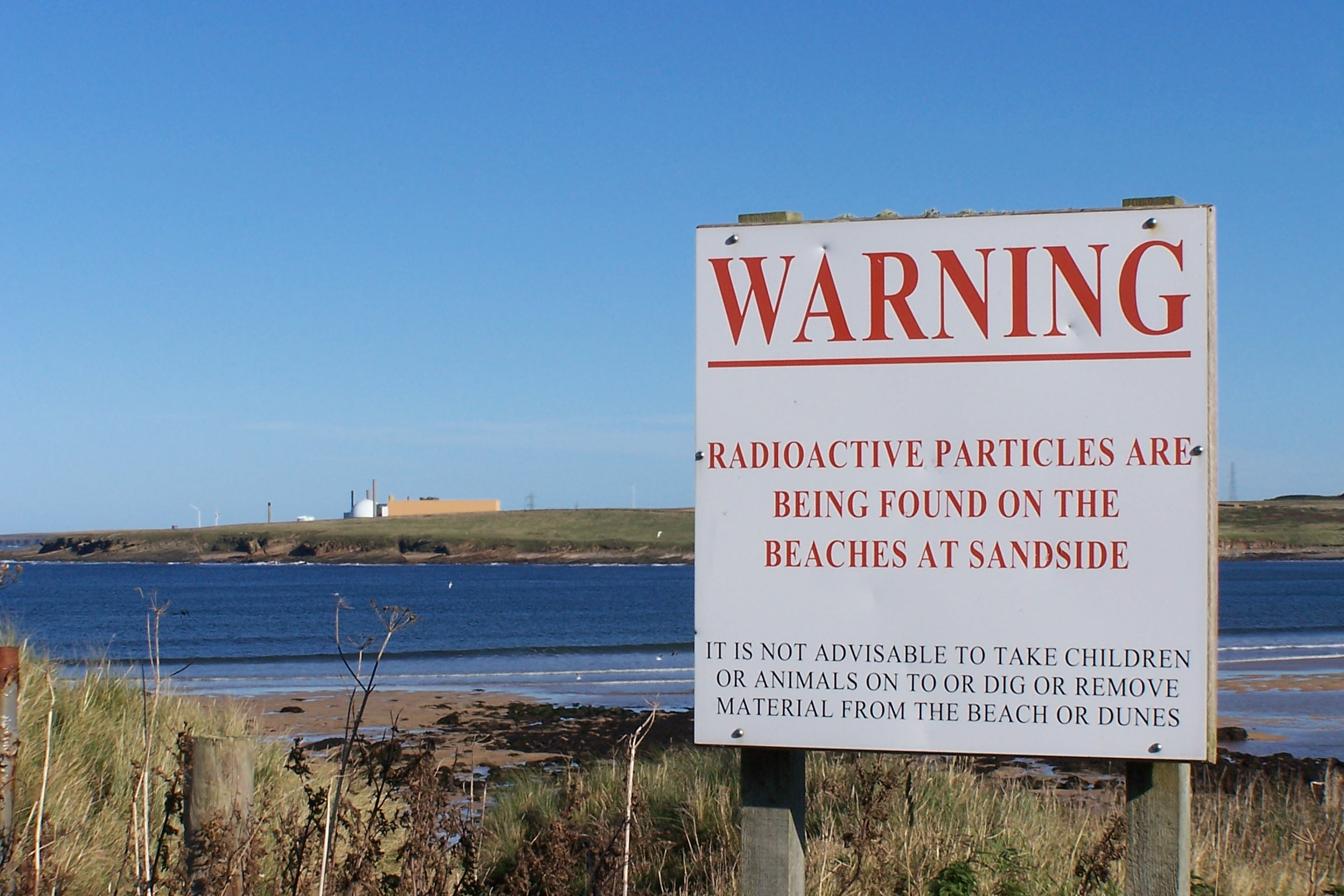 This sign from a British beach could become commonplace in California