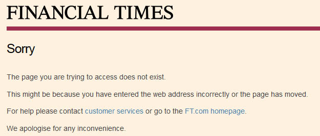 Financial Times gold