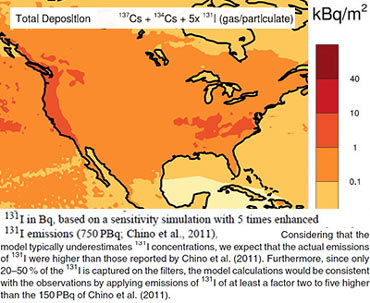 Fukushima Caused Significant Deposition Of Radioactivity Over North America