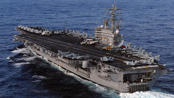 US aircraft carrier USS Ronald Reagan