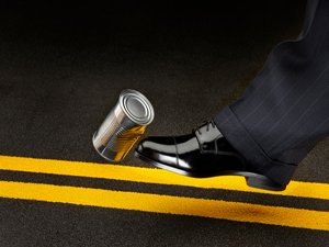 Politician kicking the can down the road