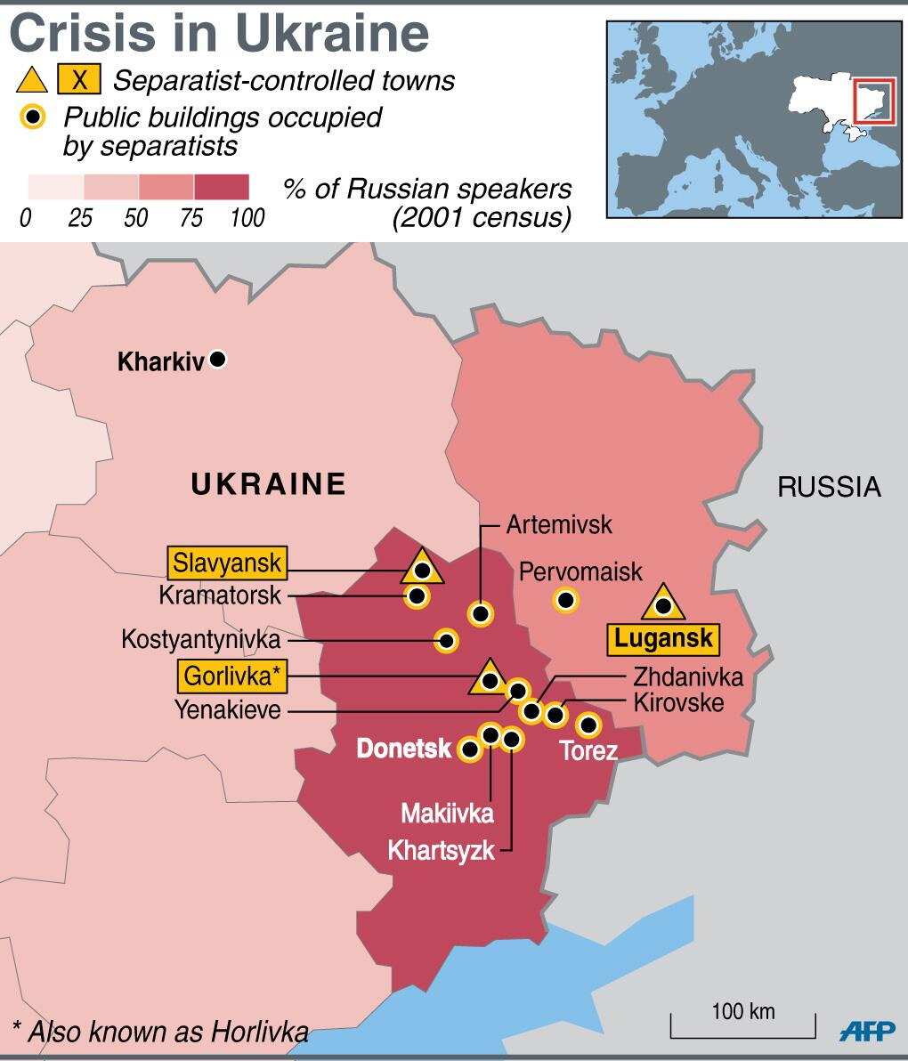 East Ukraine - These Are The Cities Controlled By Separatists
