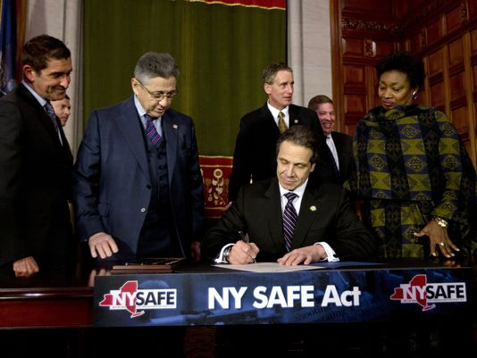 New York Gov. Andrew Cuomo signs New York's Secure Ammunition and Firearms Enforcement Act into law