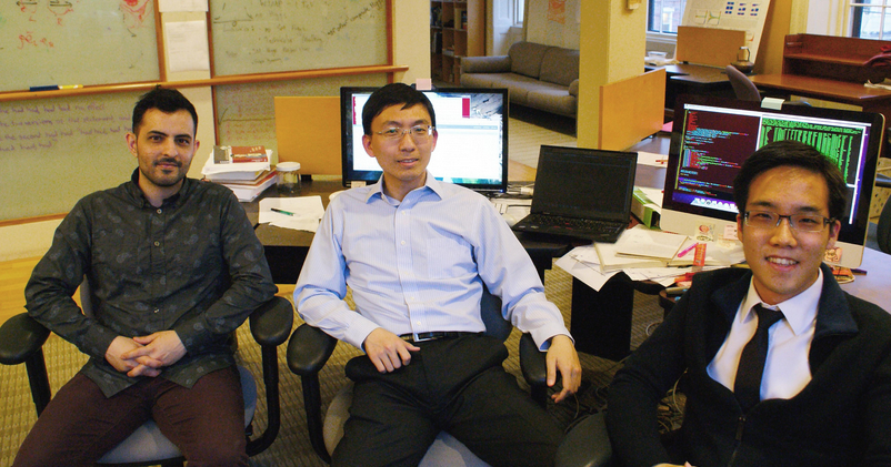 Cofounders, from left to right, Jason Stockman, Wei Sun, Andy Yen