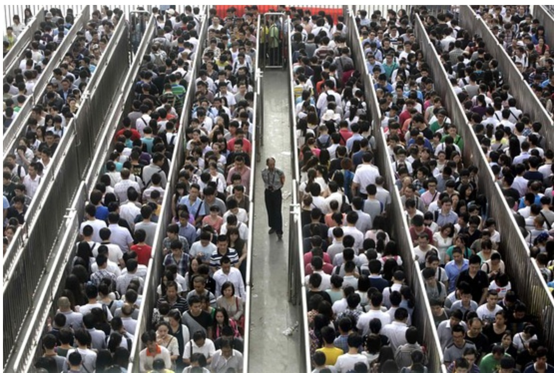 Commuters Herded Like Cattle as China Escalates its Own War on Terror