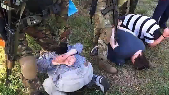 The Russian detained journalists are being investigated on the charges of aiding the terrorist groups. Screenshot from YouTube