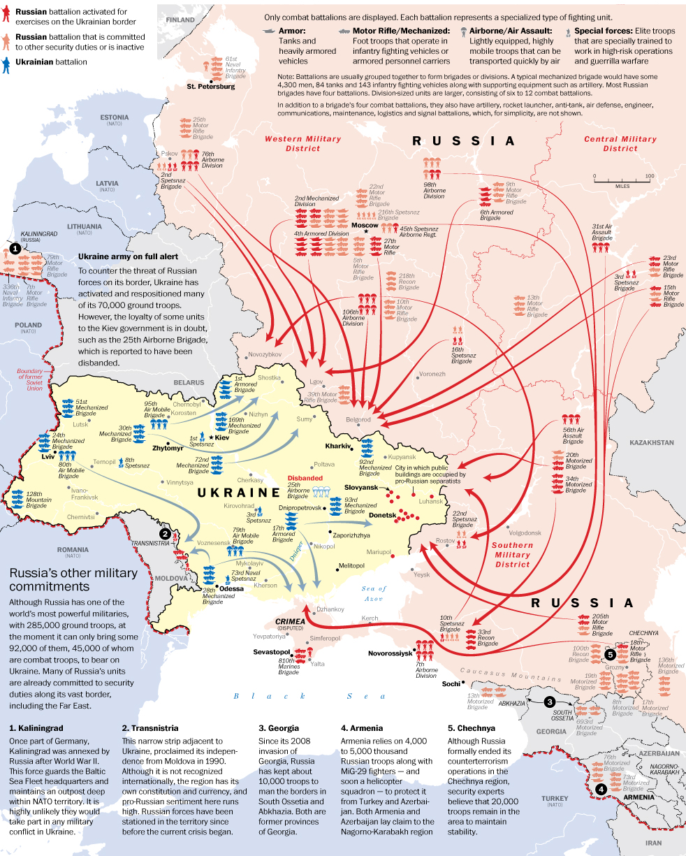 Ukraine troop map