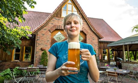 Friederike Borchert at her family's brewery in Lünne, Lower Saxony