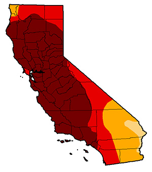 California-Drought-Map