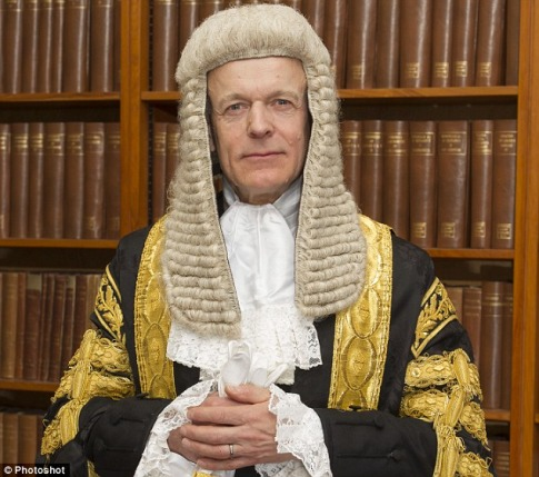 Lord Justice Fulford, pictured in his full legal regalia, was named last year as an adviser to the Queen