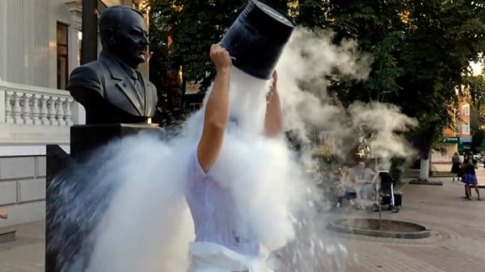 This Is How Russia Does The (Dry) Ice Bucket Challenge