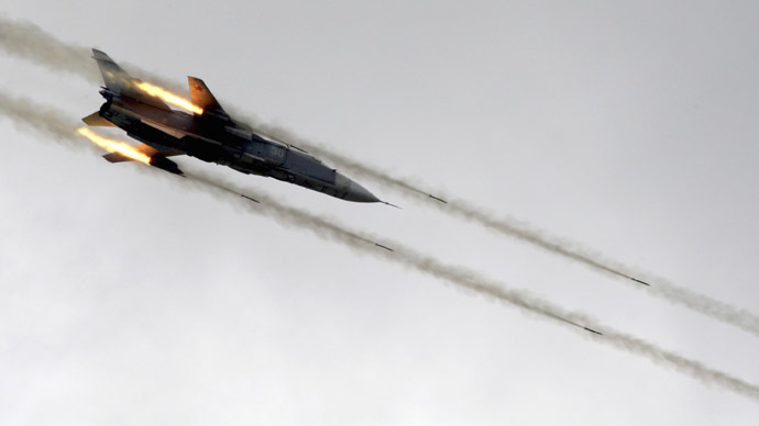 A Sukhoi jet fighter Su-24