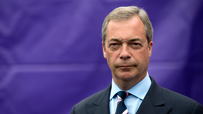 Nigel Farage, leader of the UK Independence Party (UKIP)
