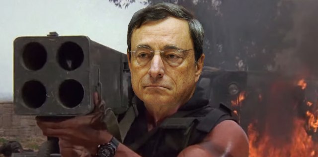 Bazooka man Draghi, taking aim at the euro