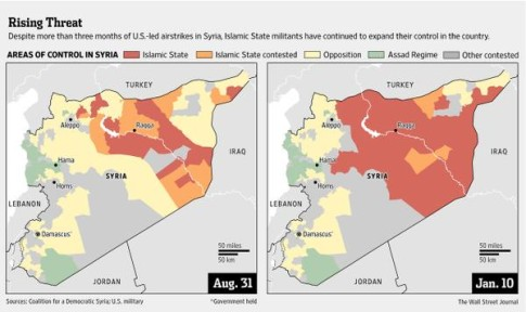 Islamic State Has Tripled Its Territory In Syria Since U.S. Started Airstrikes