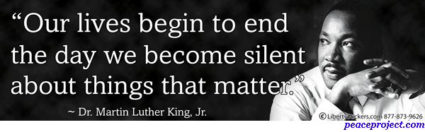 Martin Luther King: 'Our Lives Begin To End The Day We ...
