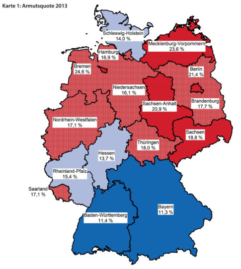 Germany Poverty Rate - Deutschland Armutsquote 2013