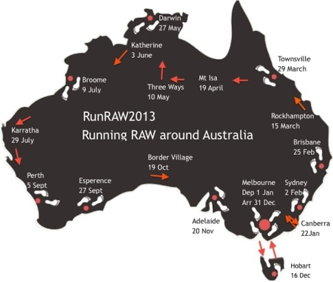 Running Raw Around Australia