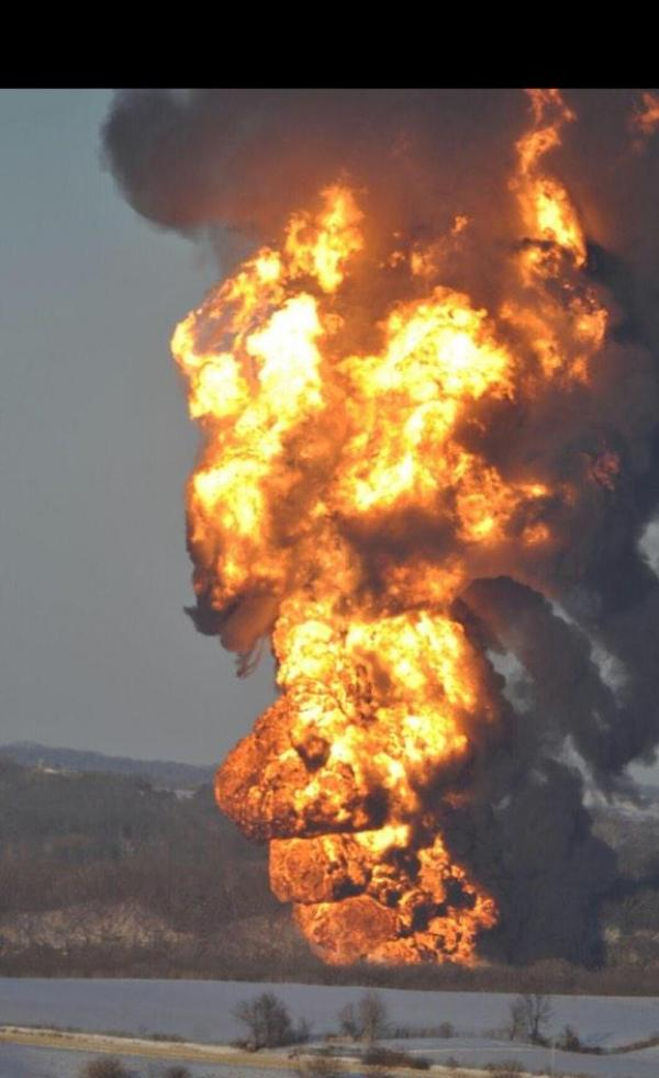 Warren Buffett-Owned Oil Freight Train Derails, Bursts Into Flames