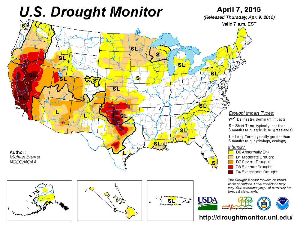 Dust Bowl Californias Historic Drought About To Get Even - Us snowpack map