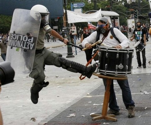 greek riot photo
