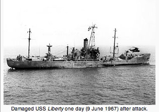 Damaged-USS-Liberty-after-the-attack