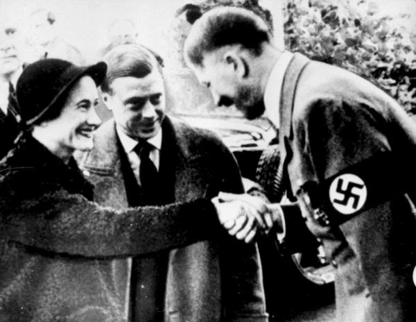 The Duke and Duchess of Windsor (King Edward VIII and his wife the former Wallis Simpson) visit Adolf Hitler at the Berghof on October 22, 1937.