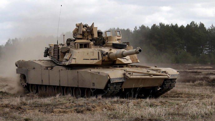 US deploying 250 military vehicles incl. Abrams tanks near Russian border