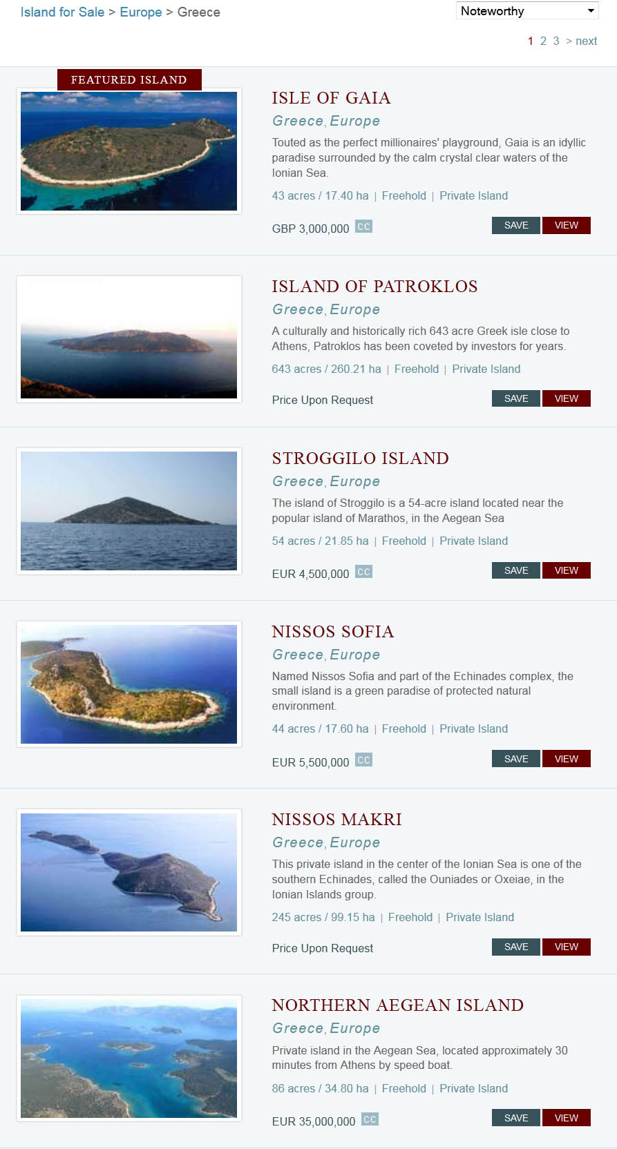Greek islands for sale