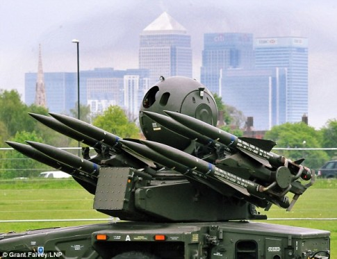 Surface-to-air missiles in a public park for the 2012 London Olympics