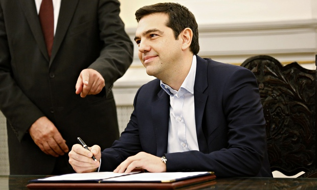 Alexis Tsipras, Greece's new prime minister