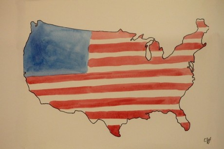 American-Flag-Painting