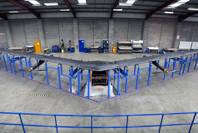 Facebook's solar-powered internet plane looks like a stealth bomber