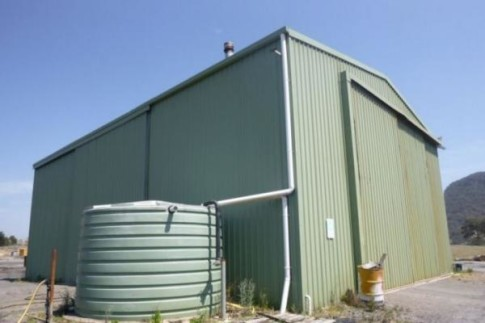 Large workshop with water tank